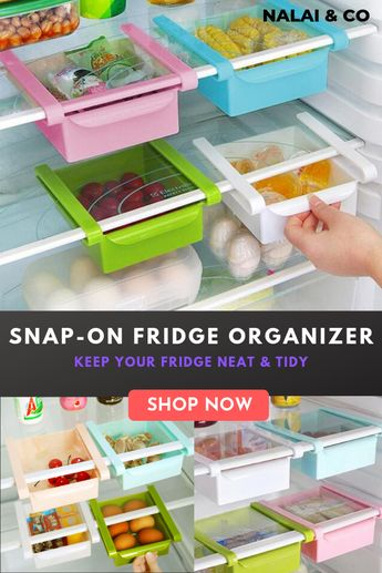 Snap-On Fridge Organizer