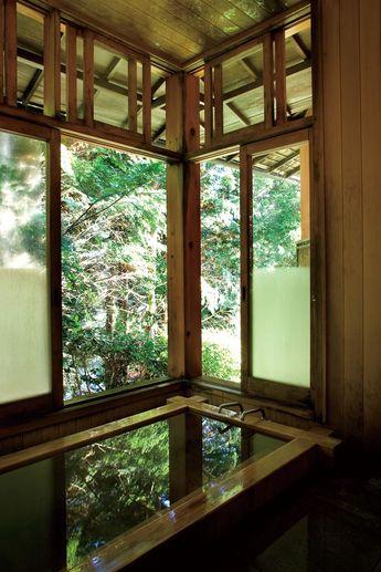 Indoor Hot Spring Bath at Yunoshimakan Ryokan | Japanese Guest Houses