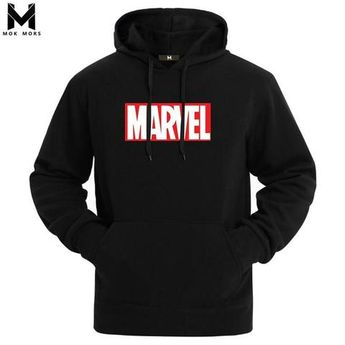 3847904967d8 Hot 2018 Autumn And Winter Brand Sweatshirts Men High Quality MARVEL letter  printing fashion mens hoodies