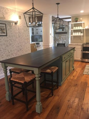 Item #112  Kitchen Island with seating, Table Island Custom,   Kitchen Island