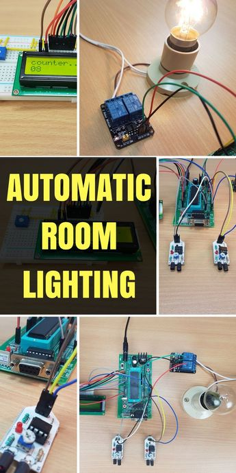 Automatic Room Lighting System using Microcontroller - #Automatic #electronic #lighting #microcontroller #room #system