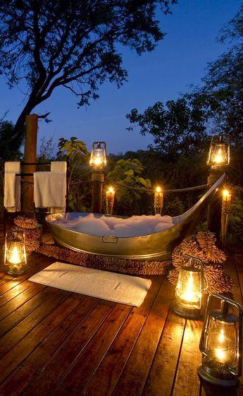 #Star bath at Sanctuary Baines Camp #Africa #Botswana