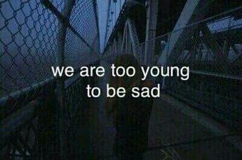 sad, young, and grunge Bild