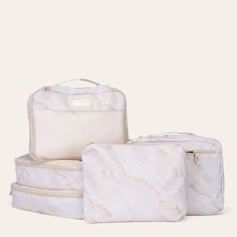 Packing Cubes 5-Piece Set - Gold Marble
