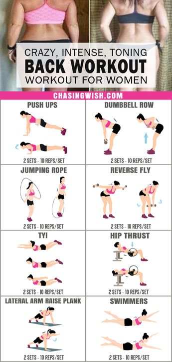 This is the BEST back workout for women I've ever seen! Glad to have found this amazing back workout at home. Definitely pinning for later! #backworkout #intense #exercise #women