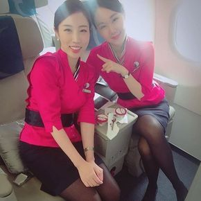 """""""It was Weiling who spotted them,"""" said Lin, pointing out her colleague. The two Air Macau flight attendants noticed two thieves in action on their long haul flight to Hong Kong. They filmed the men and confronted them, showing them the footage. The men quickly agreed to surrender and were taken to the rear of the plane where the stewardesses tied them up and radioed ahead to inform the authorities of their capture. The women will receive a cash reward. ✈️ @airmacau"""