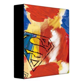Superman Painted Logo Binder | Zazzle.com