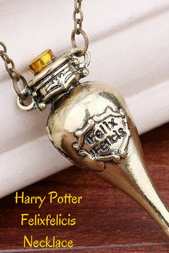 Bring some luck into your life with this magical necklace inspired by Harry Potter..#ad #harrypotter #jewelry
