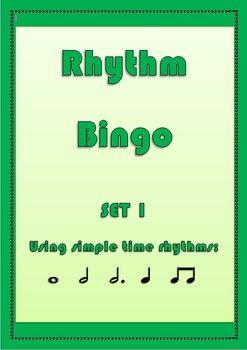 Rhythm Music Bingo Game Set 1