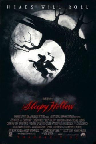Sleepy Hollow Movie poster Metal Sign Wall Art 8in x 12in