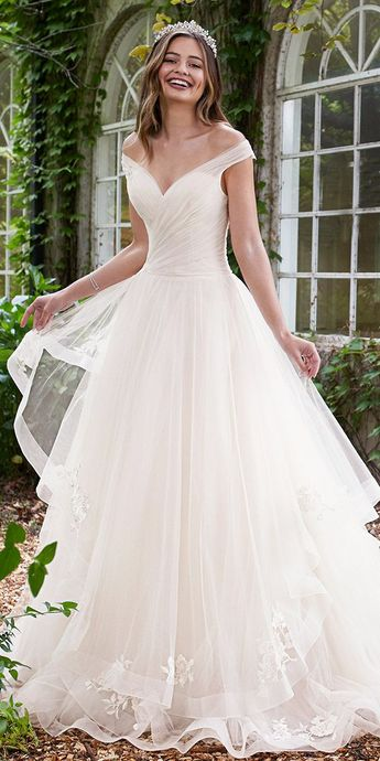 67b0b5a5bc5 Sleeveless Misty Tulle Full A-Line Gown - Sophia Tolli Y11