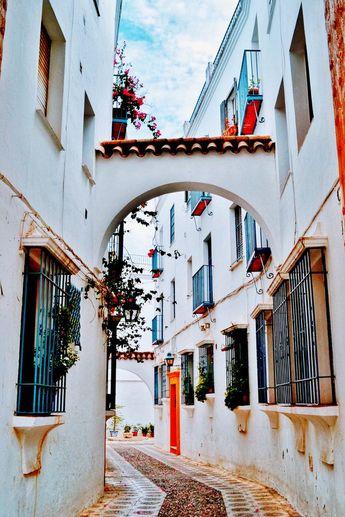 Seville Print, Seville Alley Photo, Spain Wall Art, Spain Photography