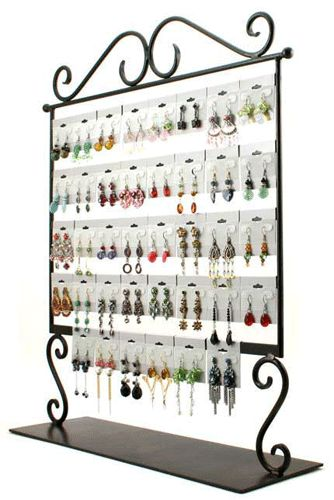 Earring Display Rack Decorative Wrought Iron Design Subastral Inc