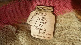 Mason Jar Save The Date Magnets Magnet Custom Wedding