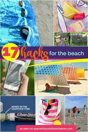 17 Beach Hacks to make your time on the beach even better, collated by Spaceships and Laser Beams.