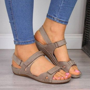 Sandals - Simple Comfortable Open Toe Ankle Strap Gladiator Sandals For Women