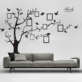Wall Stickers Wall Decals, Style Black Photo Tree PVC Wall Stickers - USD $ 27.89