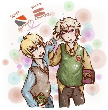 Hetalia Little Sealand x Latvia