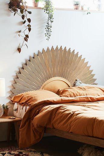 #gold #decor #home #bedroom #boho #headboard #sun