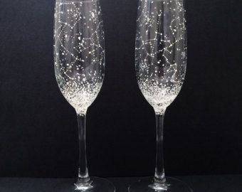 Hand Painted Constellation Glasses by Emma Ballou by BallouSky
