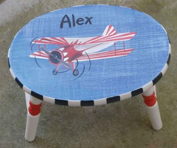 Astonishing Kids Step Stools Wood Step Stool Hand Painted Step Stool Caraccident5 Cool Chair Designs And Ideas Caraccident5Info