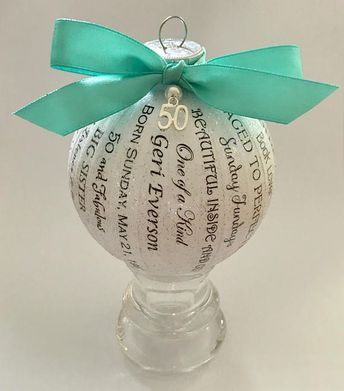 50th Birthday Gift For Women Mom Daughter Personalized Ornament 50 And