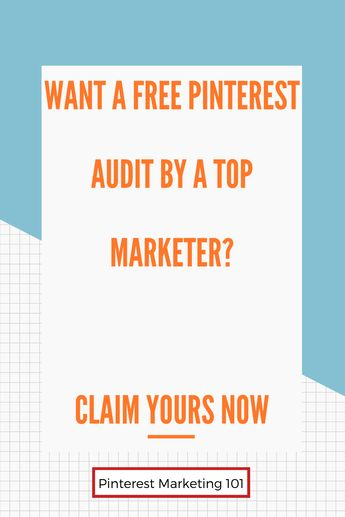 🤯WANT A FREE PINTEREST AUDIT FROM A TOP PINTEREST MARKETER? Get your Pinterest account checked out so you can ensure a top Pinterest strategy for you and your business. We set your account up for success and help you understand what you can improve on your Pinterest account. Set up your Pinterest account for maximum growth and learn to drive traffic to your website the right way! Click to get your free Pinterest audit! #Pinterestmarketing #pinterest #freeaudit #pinterestaudit
