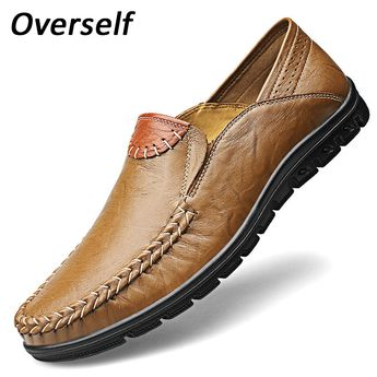 Loafers Breathable Shoe Comfy Driving Cow Leather Shoes 38 to 46 Big Size High Quality Genuine Leather Men Shoes Soft Moccasins. Yesterday's price: US $80.00 (65.58 EUR). Today's price: US $45.60 (37.35 EUR). Discount: 43%.