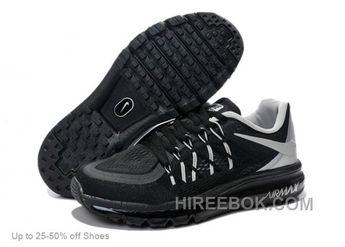 Nike Men Air Max 2015 Black Grey Running Shoes Christmas Deals 559e15b48