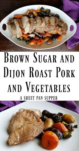 This simple sheet pan meal doesn't take a lot of prep, but pays off big in flavor. It is easy enough for a family dinner but nice enough to serve to guests! #pork #dinner #sheetpansupper #fall