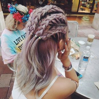 Imagem de hair, braid, and hairstyle