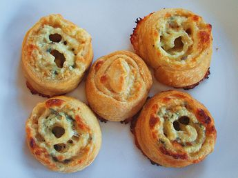 three cheese pinwheels with crescent rolls (super bowl) - 25
