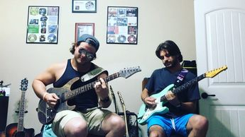 @ryanjmillertime and I making noises together on purpose  guitarsarebetter  suhr  suhrguitars  suhrmodern  talentedmusicians  instasound  instagroove  guitariste  guitarrista  guitardaily