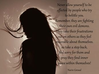 Never allow yourself to ...