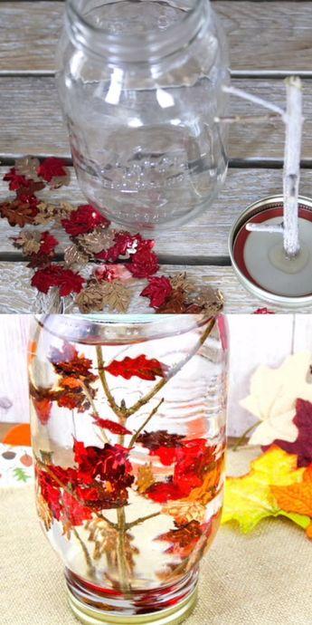 Fall Snow Globe - Falling Leaves Sensory Bottle