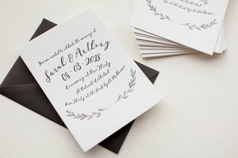 Simple Elegance - Invitations