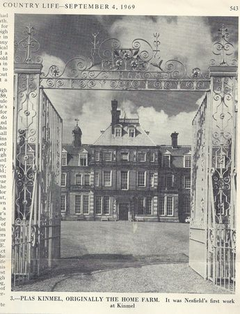 The main gates - picture from the Country Life article