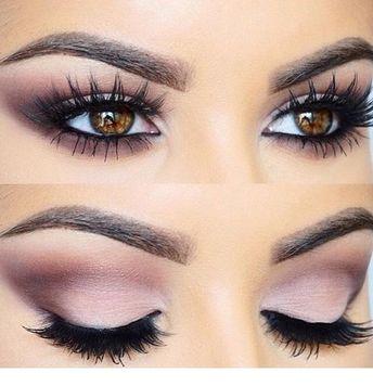 Cute rose eye makeup for brown eyes
