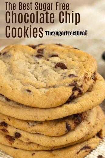 The Best Sugar Free Chocolate Chip Cookies #sugarfree #cookie #recipe #homemade #diy #dessert #lowcarb