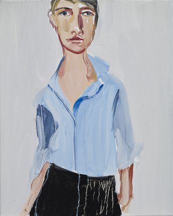 Chantal Joffe and the lovely blue shirt