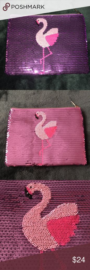 👛 Flamingo bag 👛 Party like a flock star with this sequin flamingo makeup bag perfect for your everyday essentials. Holds all of your fave products while lookin' so flocking adorable. Perfect for going out. Brand new and comes in plastic packaging.   FAST SHIPPING ALWAYS 💨  BUNDLE TO SAVE 15% ✅ tarte Bags
