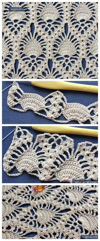 Crochet Lace Pineapple Stitch Free Crochet Pattern