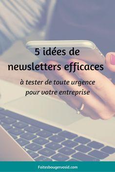 5 idées pour une newsletter efficace pour votre entreprise