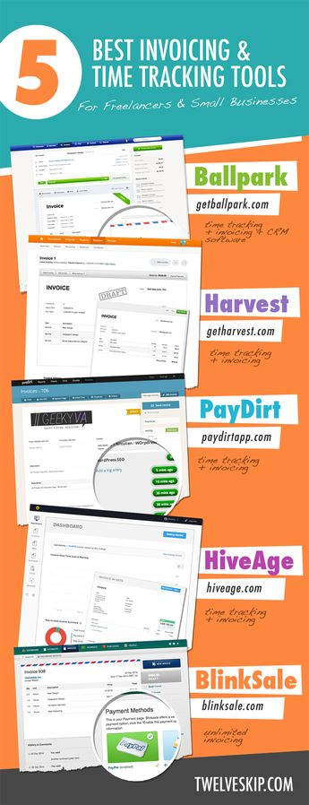 5 Best Invoicing And Time Tracking Tools For Freelancers & Small Businesses