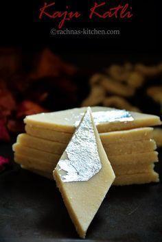 Kaju katli recipe, How to make kaju katli   Kaju barfi