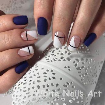Weiße Nägel und künstlerische Nagelstile 1