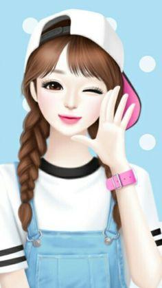 99 Cantik Gambar Kartun Perempuan Korea Terbaru Cikimm Com
