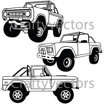 ford bronco vector file 1965 Ford Bronco ford bronco open top vector file