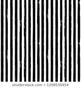 Black and white grunge abstract hand drawn striped seamless pattern. White background with brush line black vertical stripes. Ink illustration. Print for textile, wallpaper, wrapping.