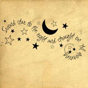 Peter Pan Quote Nursery Wall Art Literary Gift To Ha